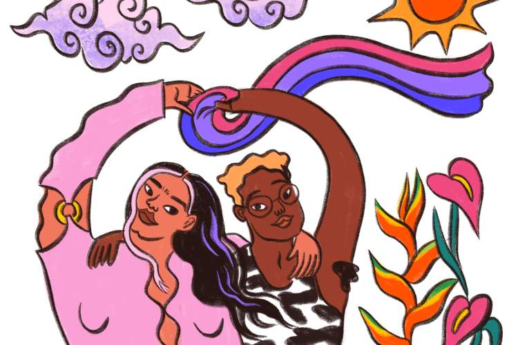 "Illustration from The Trevor Project's ""How to Support Bisexual Youth"""