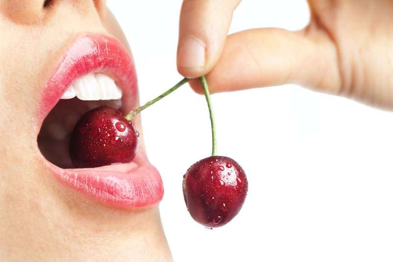 eating cherries