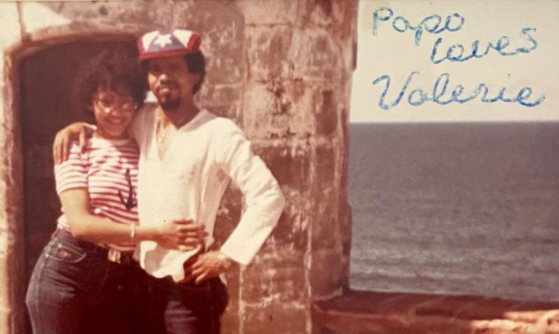 Valerie with first husband