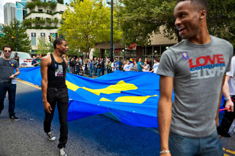 Marching with the Equality Flag in Atlanta 2011