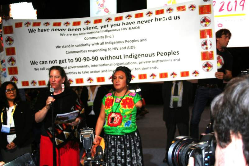 Indigenous Protesters at IAS 2019