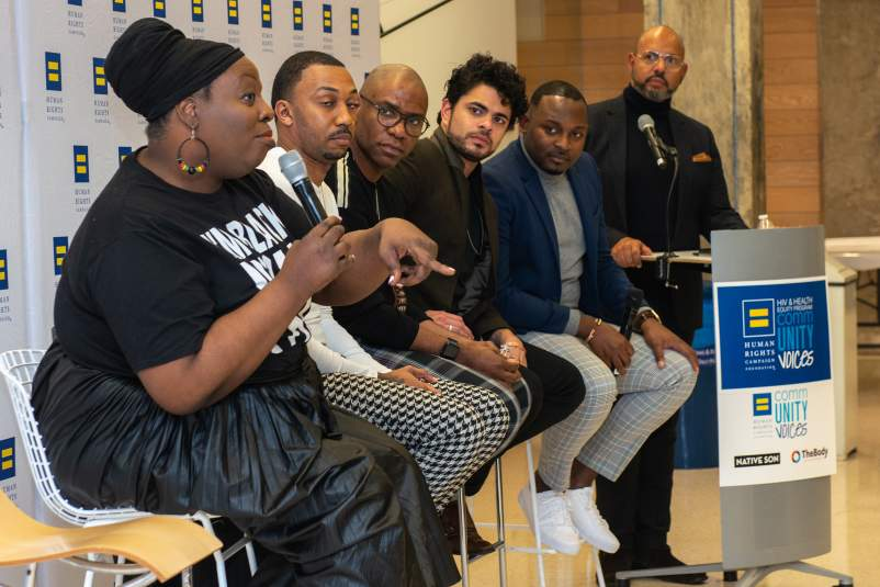 Panel for the Human Rights Campaign's National Black HIV Awareness Day Event