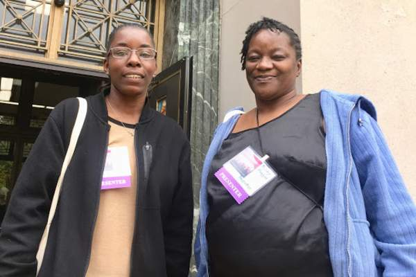 Estoria Wright (left) and Shirley Huggins (right)