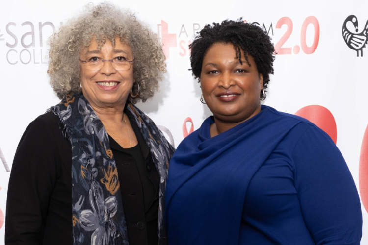 Angela Y Davis and Stacy Abrams credit Sankofa Collaborative