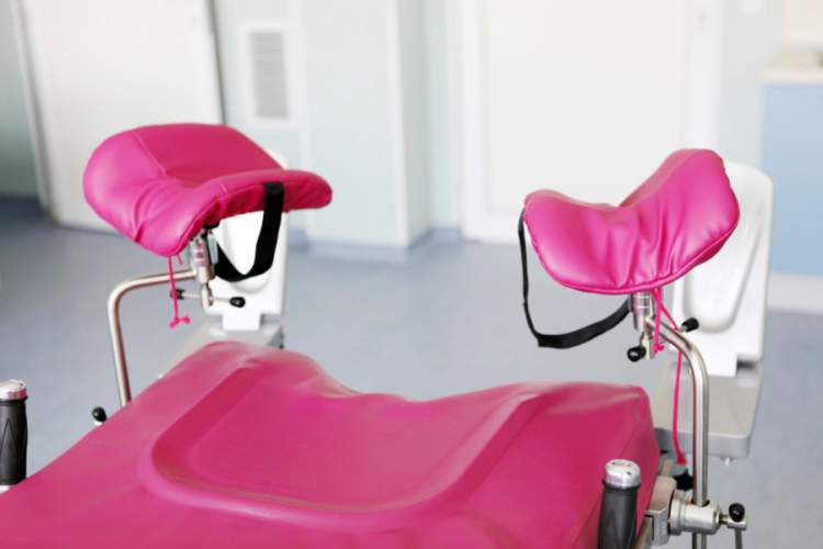 Gynecological chair in doctor's office