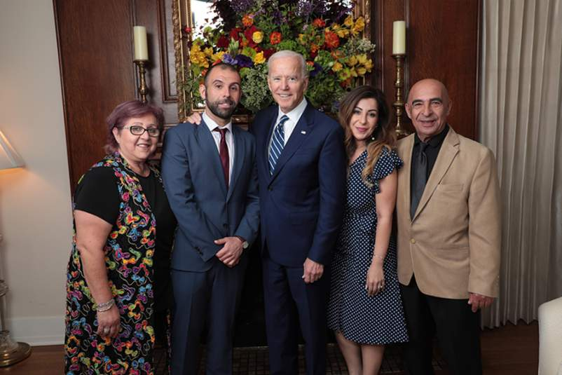 Former Vice President Joe Biden and the Ratevosian Family
