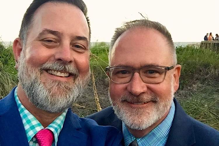 Peter Stinner with his husband, Jeff Graham.