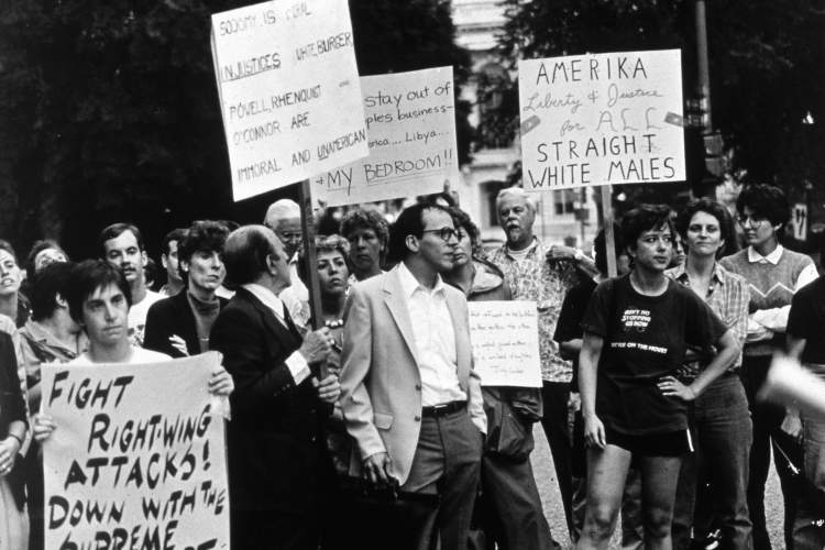 Bowers V Hardwick protest in Washington DC, 1986