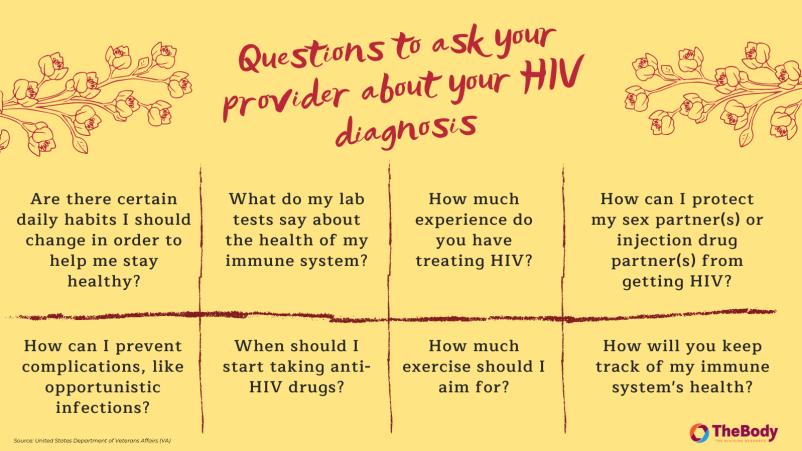 Questions to Ask Your Provider About Your HIV Diagnosis