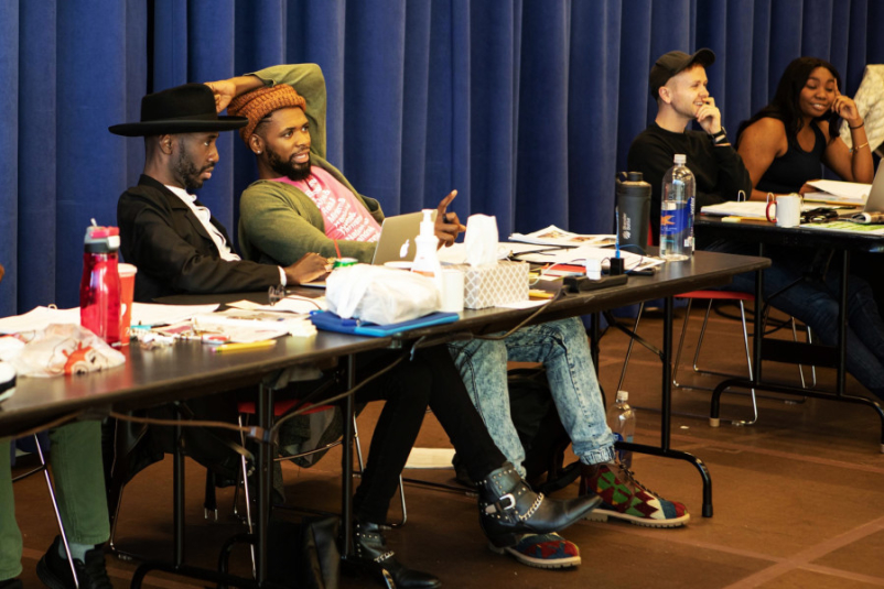 Pictured (l to r): Playwright Donja R. Love, director Stevie Walker-Webb, Production Stage Manager Jakob W. Plummer.