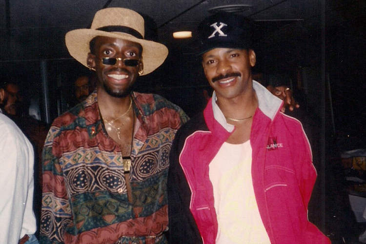 Dwayne Brown (L) and friend, early 90s.
