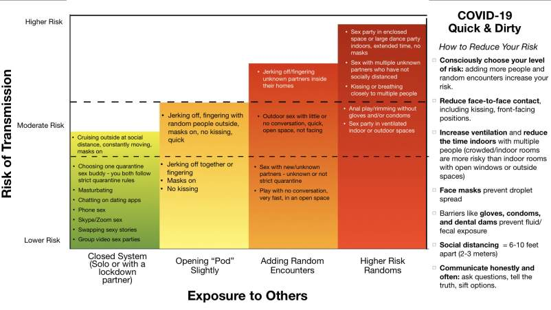 COVID Sex and Risk chart.