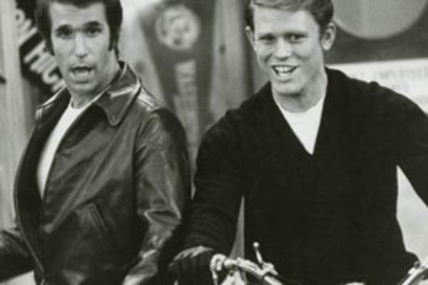The Fonz and Richie from Happy Days