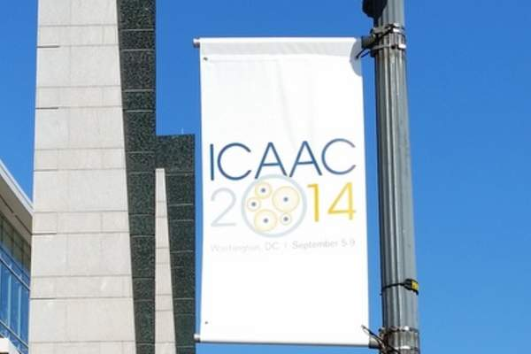 ICAAC 2014 street sign