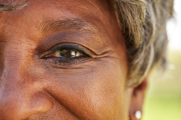 Close Up Of Senior Womans Eyes