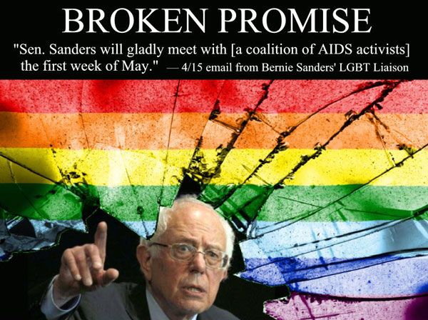 Sanders Meeting With HIV/AIDS Advocates Cancelled