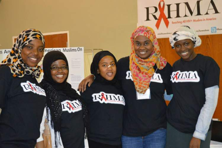 Khadijah Abdullah, founder of RAHMA (second from right) with members