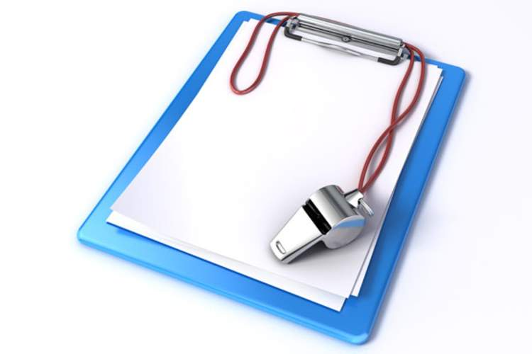 clipboard with whistle