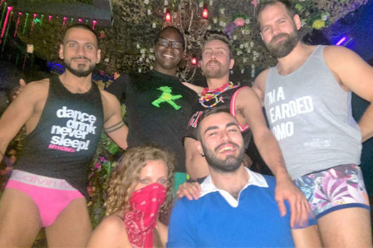 Partygoers with My Fabulous Disease cameraman Theo Tsipiras (bottom right) at the No Pants No Problem party during AIDS 2016, which took place at the Origins Nightclub in Durban, South Africa, on July 21
