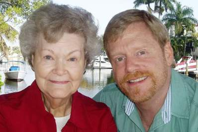 Mark S. King and his mother
