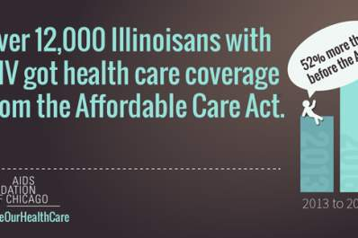 Over 12,000 Ilinoisians with HIV got health care coverage from the Affordable Care Act