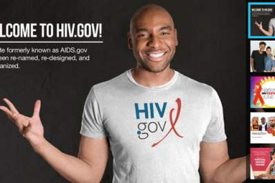 new HIV.gov home page