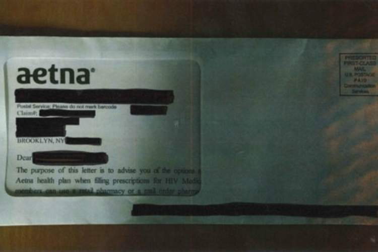 Aetna envelope