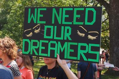 We Need Our Dreamers sign