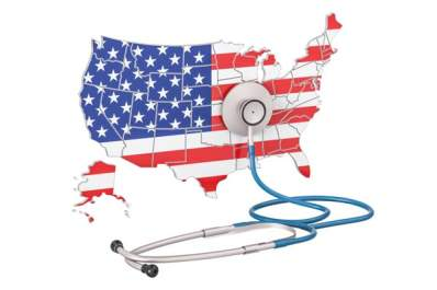 U.S. map and stethoscope