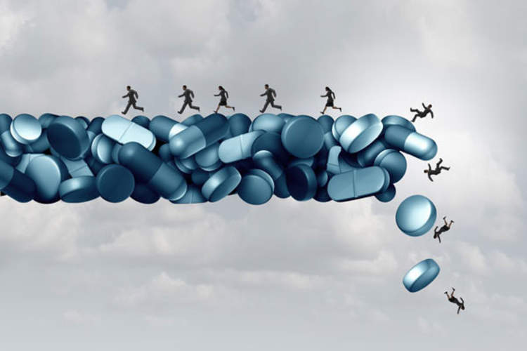 figures falling off of pills