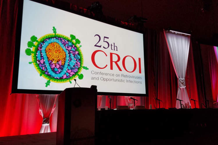 CROI sign and podium