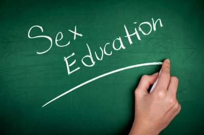Sex Education written on a chalkboard