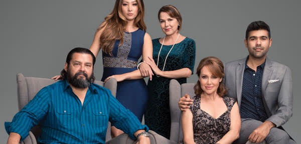 From left to right: Daniel E. Mora, Joanna Zanella, Maria Richwine, Eliana Alexander, and J.M. Longoria