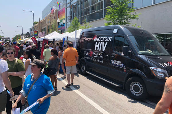 HIV Testing Truck at Chicago Pride