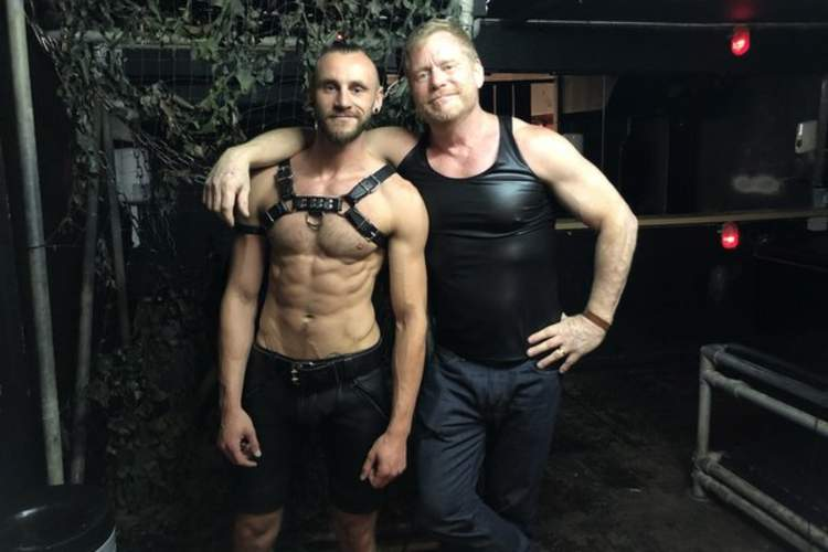 Kinkster Chris Vincent (left) with Mark S. King at Club Church in Amsterdam