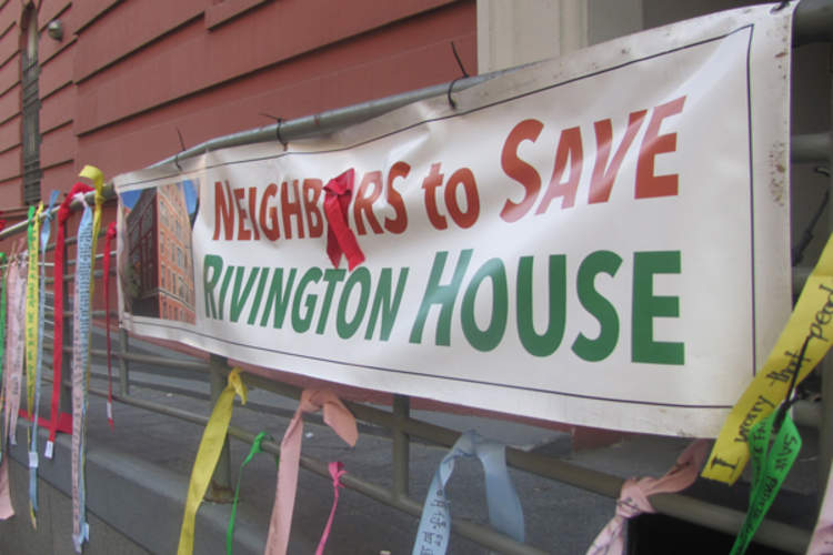 Rivington House protest