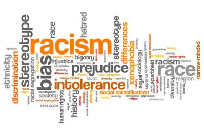 Racism word cloud