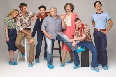 Roxanna Hope Radja, Ward Horton, Michael Urie, Harvey Fierstein, Mercedes Ruehl, Jack DiFalco, and Michael Hsu Rosen