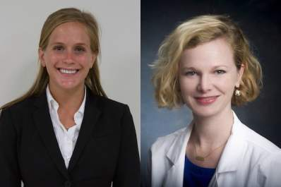 Ellen Eaton, M.D. (right), and Kelsie Dodson.