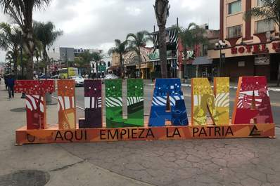 Tijuana: Homeland Begins Here sign