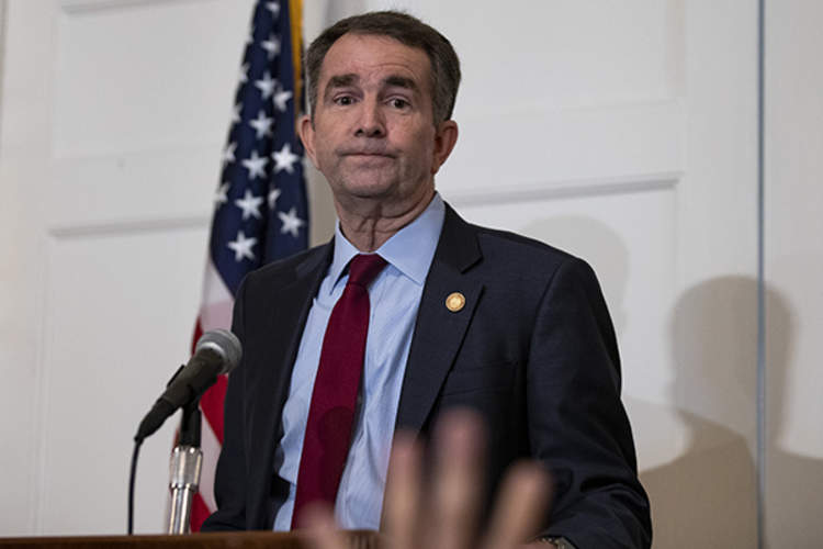 Governor Ralph Northam speaks at a press conference
