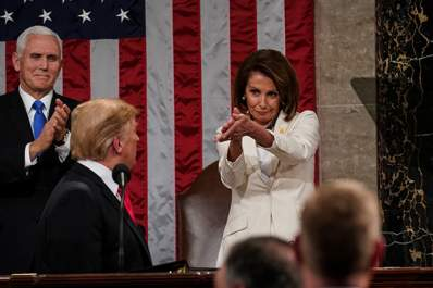 Nancy Pelosi clapping at the 2019 State of the Union