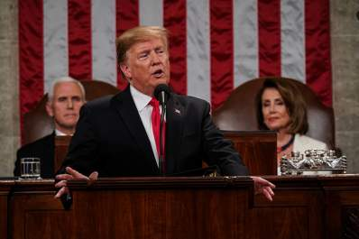 Donald Trump delivering the State of the Union address