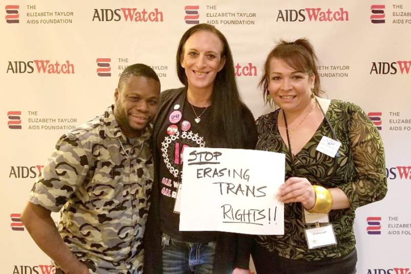 Achim Howard, Katie Willingham, and Arianna Lint at AIDSWatch 2019