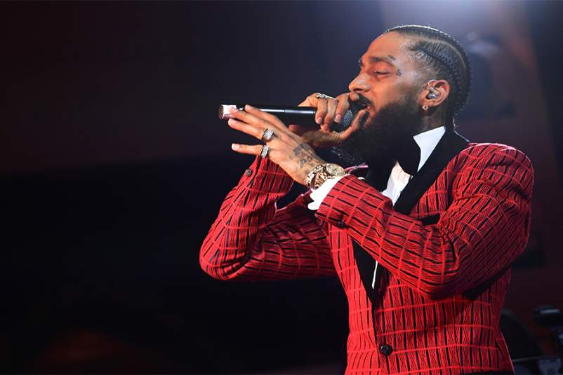 Nipsey Hussle performing in February 2019