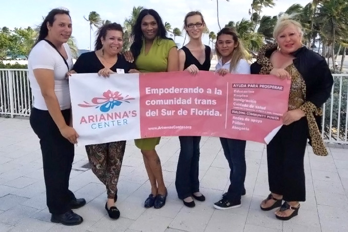Arianna Inurritegui-Lint with supporters of Arianna's Center