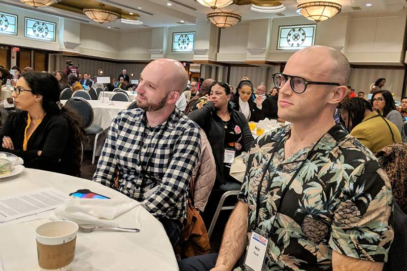 James Krellenstein and Nicholas Faust at AIDSWatch 2019