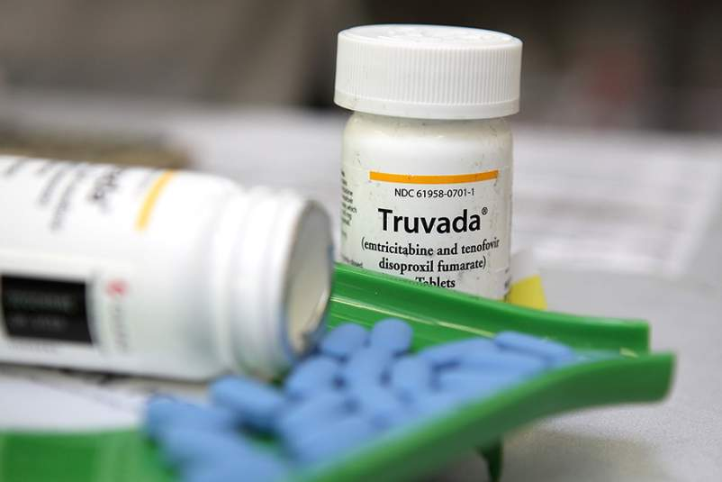 Bottles of antiretroviral drug Truvada