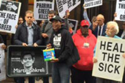 HIV Activists Storm Turing Pharmaceuticals Lobby and Demand Fair Pricing Img