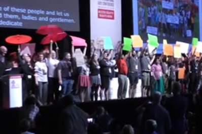 HIV Criminalization Activists Take Over the Stage at Durban AIDS Conference Opening Ceremony Img
